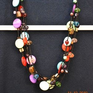 Premier Designs Multi-Strand Beaded Necklace